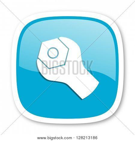 tool blue glossy icon