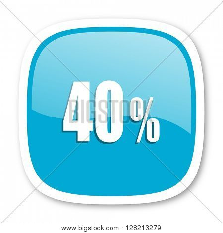 40 percent blue glossy icon