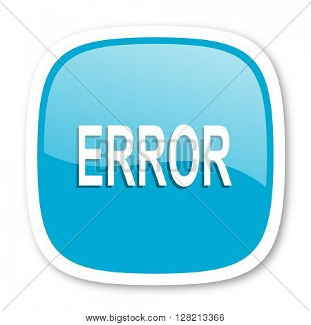 error blue glossy icon