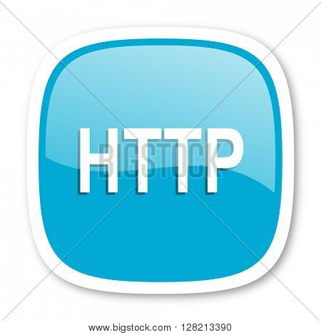 http blue glossy icon