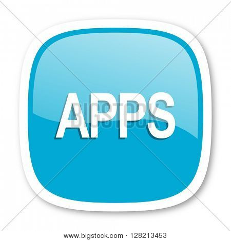 apps blue glossy icon