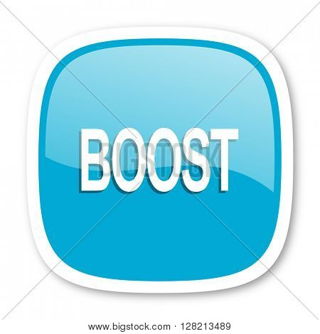 boost blue glossy icon