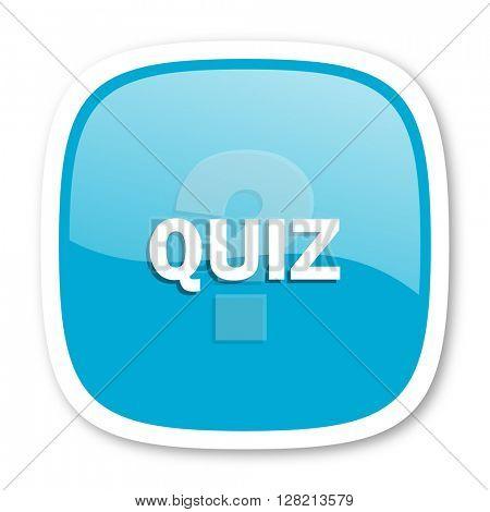 quiz blue glossy icon