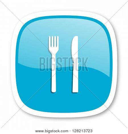 eat blue glossy icon