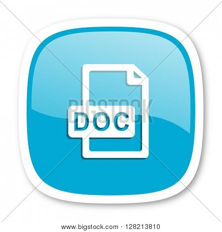 doc file blue glossy icon