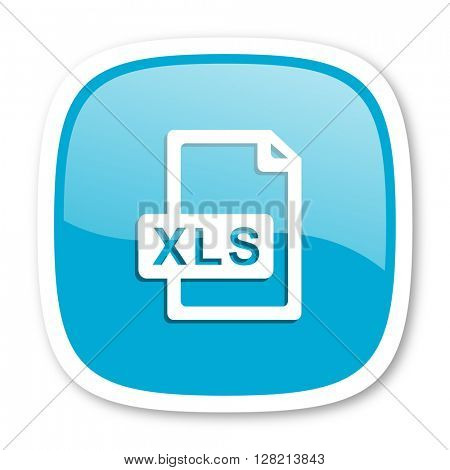 xls file blue glossy icon