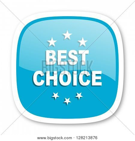 best choice blue glossy icon