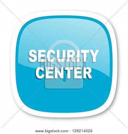 security center blue glossy icon