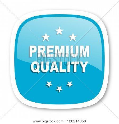 premium quality blue glossy icon