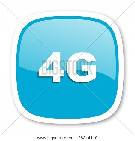 4g blue glossy icon