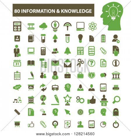 information & knowledge icons