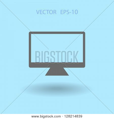 Flat icon of monitor