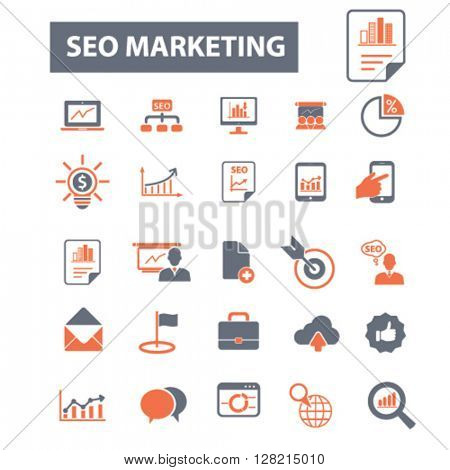 seo marketing icons