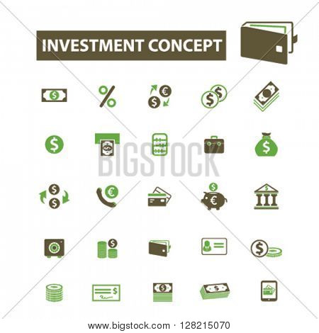 investment concept icons