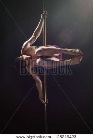 Pole Dance Male Athlete