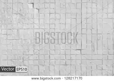 Vector bright low poly triangle background old dirty tile mosaic