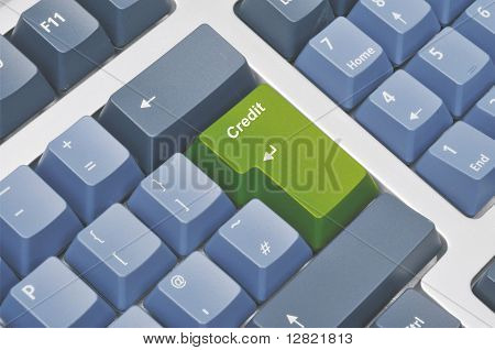 Credit on Keyboard