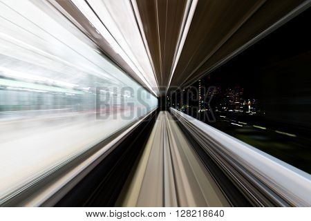 Blur motion in tunnel