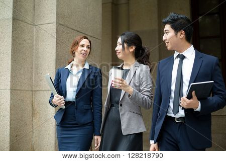 Business people walking at outdoor