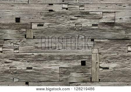 Weathered Wooden Wall Seamless Pattern
