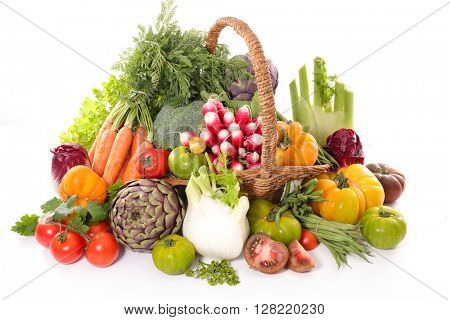 raw vegetable isolated on white