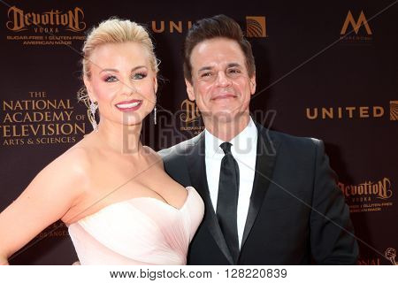 LOS ANGELES - MAY 1:  Christian LeBlanc, Jessica Collins at the 43rd Daytime Emmy Awards at the Westin Bonaventure Hotel  on May 1, 2016 in Los Angeles, CA
