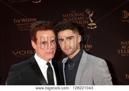 LOS ANGELES - MAY 1:  Christian LeBlanc, Max Ehrich at the 43rd Daytime Emmy Awards at the Westin Bonaventure Hotel  on May 1, 2016 in Los Angeles, CA