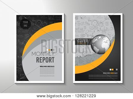 Brochure template, Flyer Design or Depliant Cover for business presentation and magazine covers, annual reports and marketing generic purposes.