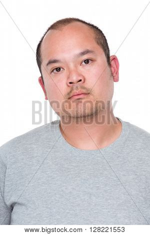 Confident mature asian man