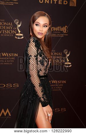LOS ANGELES - MAY 1:  Reign Edwards at the 43rd Daytime Emmy Awards at the Westin Bonaventure Hotel  on May 1, 2016 in Los Angeles, CA