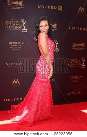 LOS ANGELES - MAY 1:  Mishael Morgan at the 43rd Daytime Emmy Awards at the Westin Bonaventure Hotel  on May 1, 2016 in Los Angeles, CA