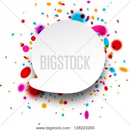 Paper abstract replica background with color drops. Vector illustration.