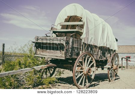 Wild west wagon - South West American cowboy times concept