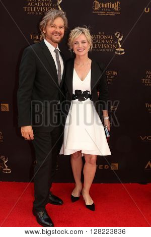 LOS ANGELES - MAY 1:  Stephen Nichols, Mary Beth Evans at the 43rd Daytime Emmy Awards at the Westin Bonaventure Hotel  on May 1, 2016 in Los Angeles, CA