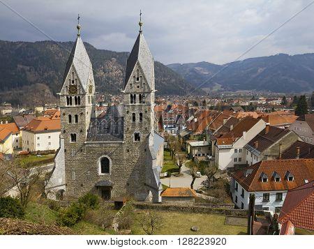Parish Church of St. Bartholomew is an emblem of the city Friesach Carinthia Austria