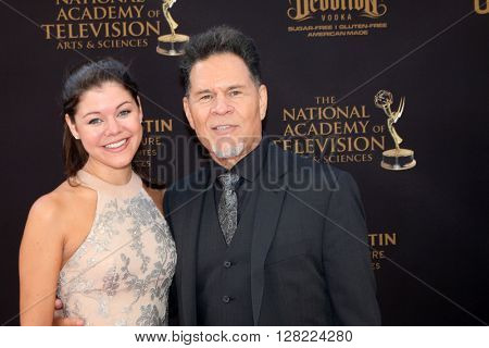 LOS ANGELES - MAY 1:  Devon Martinez, A Martinez at the 43rd Daytime Emmy Awards at the Westin Bonaventure Hotel  on May 1, 2016 in Los Angeles, CA