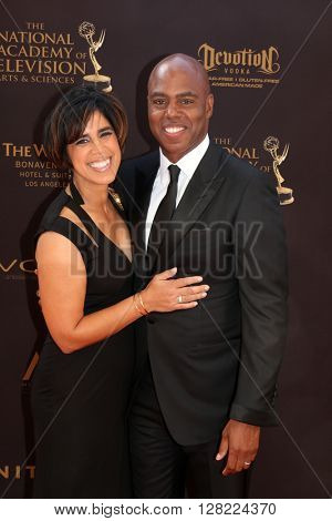 LOS ANGELES - MAY 1:  Yazmin Cader Frazier, Kevin Frazier at the 43rd Daytime Emmy Awards at the Westin Bonaventure Hotel  on May 1, 2016 in Los Angeles, CA
