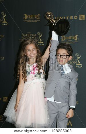 LOS ANGELES - MAY 1:  Brooklyn Rae Silzer, Nicolas Bechtel at the 43rd Daytime Emmy Awards at the Westin Bonaventure Hotel  on May 1, 2016 in Los Angeles, CA