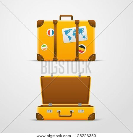 Travel bag vector illustration, Vacation design template