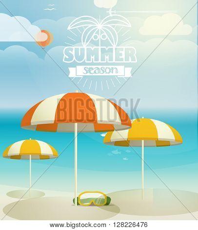 Summer seaside vacation illustration