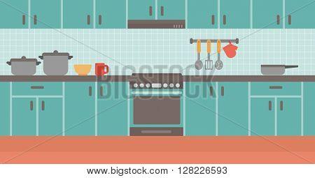 Background of kitchen.