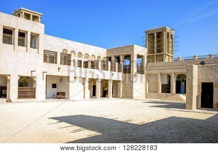 Dubai U.A.E. - November 12 2006: The Sheikh Saeed's House courtyard in the Shindagha quarter