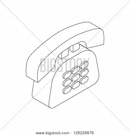 Office phone icon in isometric 3d style on a white background