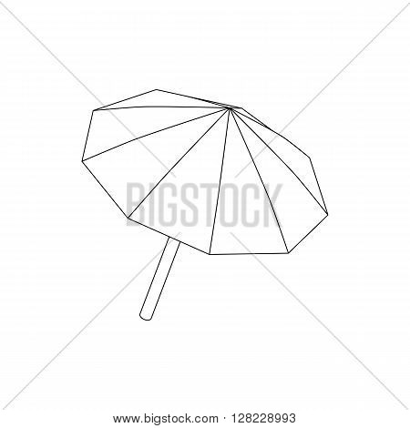 Studio umbrella icon in isometric 3d style on a white background