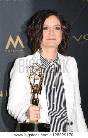 LOS ANGELES - MAY 1:  Sara Gilbert at the 43rd Daytime Emmy Awards at the Westin Bonaventure Hotel  on May 1, 2016 in Los Angeles, CA