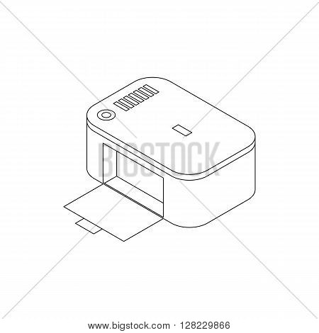 Photo printer icon in isometric 3d style on a white background