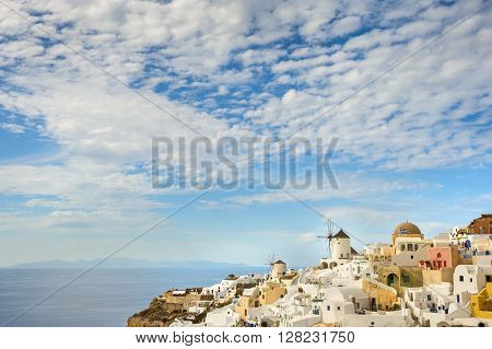 Oia before sunset at Santorini, Greece
