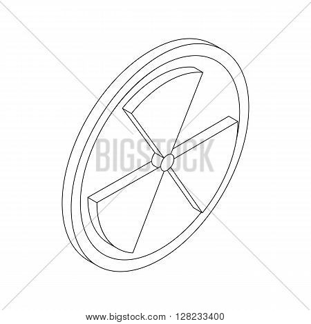 Radiation symbol icon in isometric 3d style on a white background