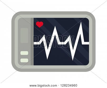 Heartbeat icon sport ecg vector.