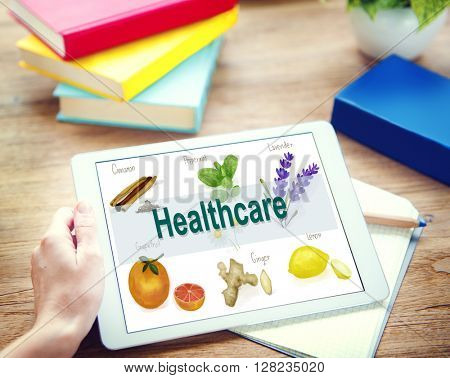 Health Care Treatment Vitamins Healthy Concept